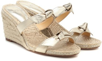 Alexandre Birman Clarita leather wedge espadrille sandals