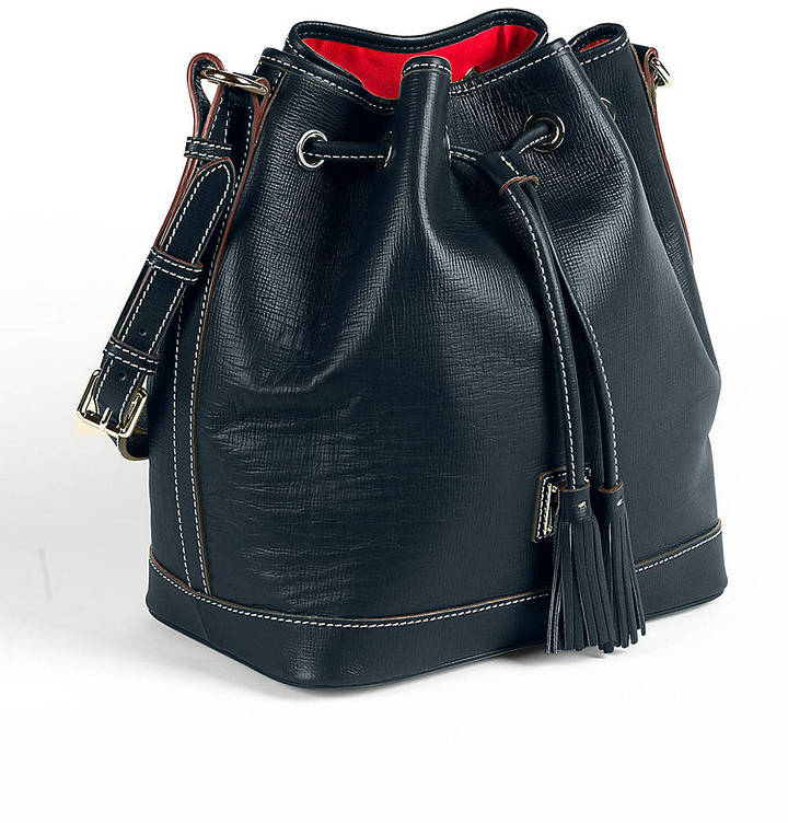 Dooney & Bourke DB Retro Leather Drawstring Bag