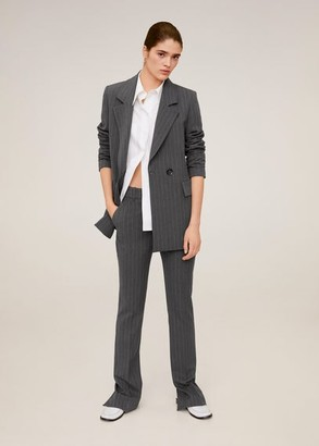 MANGO Pinstripe suit blazer grey - S - Women