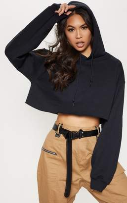 PrettyLittleThing Maroon Ultimate Oversized Crop Hoodie