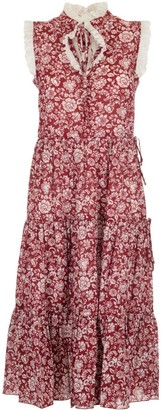 See by Chloe Floral Print Tired Dress