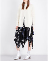 Proenza Schouler Split-front knitted wool and cashmere-blend jumper