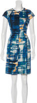 Lela Rose Printed Cap Sleeve Dress