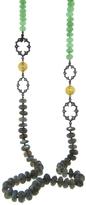 Arman Chrysoprase and Labradorite Long Necklace