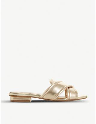 Dune Ludo padded cross-strap sandals