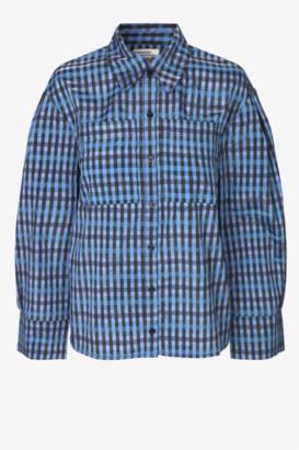 Baum und Pferdgarten Murrian Blue Gingham Shirt - blue | black check | polyester | sz 38 - Blue/Blue