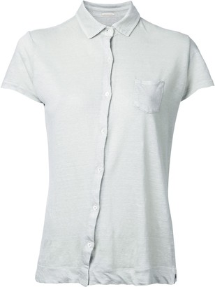 Massimo Alba Off-Center Button Fastening Shirt