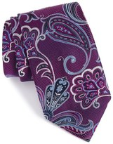 Nordstrom Paisley Textured Silk Tie (X-Long)