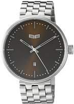 Vestal Unisex ROS3M004 Roosevelt Metal Analog Display Quartz Silver Watch