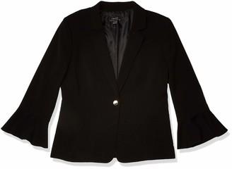 Tahari by Arthur S. Levine Women's Bi Stretch Jacket with Tulip Sleeve Detail