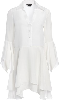 Alice + Olivia Priscilla Button Down Mini Dress