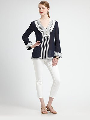 Tory Burch Aleksi Embroidered Tunic
