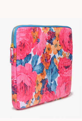 Forever 21 Floral Faux Croco Tablet Case