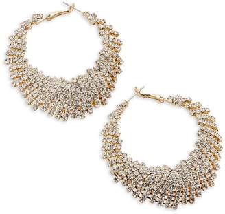 Etereo Fast Fashion Goldtone Crystal Statement Earrings