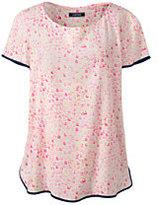 Lands' End Women's Petite Short Sleeve Crepe Tee-Whispering Pink Shells