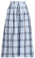 House of Holland Checked cotton wide-leg culottes