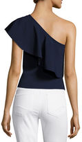 Milly One-Shoulder Flounce Top