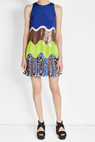 Emilio Pucci Silk Dress with Print and Sequin Embellishment