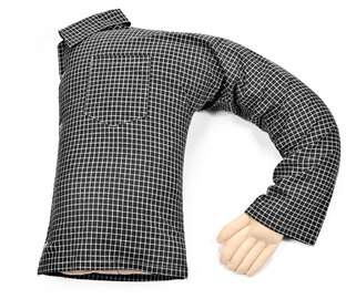 Deluxe Comfort Boyfriend Bed Rest Pillow Color: Black