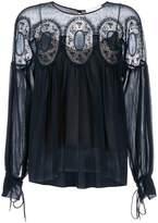 Chloé lace insert blouse