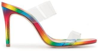 Schutz Rainbow-Effect Heeled Sandals