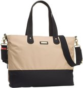 Storksak Color Block Tote Diaper Bag - Champagne/Black