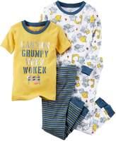 Carter's Boys'-12 4 Piece Construction Print Pajama Set