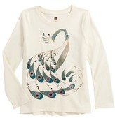 Tea Collection Toddler Girl's Peacock Graphic Tee