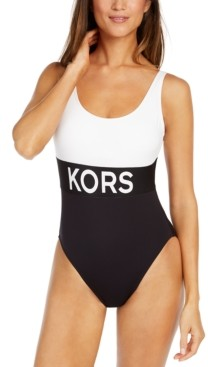 Michael Kors Michael Colorblocked One-Piece Swimsuit Women's Swimsuit