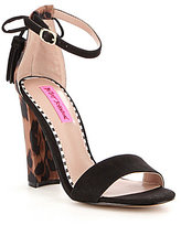 Betsey Johnson Rallo Leopard Block Heel Dress Sandals