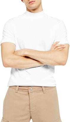 Topman Mock Neck T-Shirt