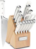 Cuisinart Classic 15-pc. White Triple Rivet Cutlery Block Set