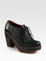 Rachel Comey Leather Lace-Up Platform Ankle Boots