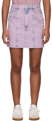 Etoile Isabel Marant Pink Denim Hondo Skirt