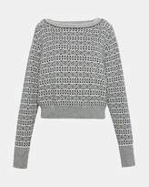 Theory Cashmere Fair Isle Boatneck Sweater