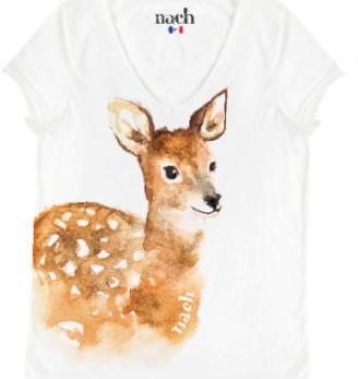 Nach White Bambi T Shirt - large