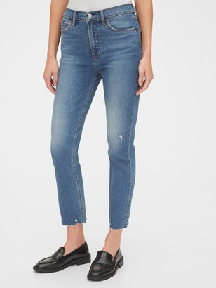 Gap High Rise Distressed Cigarette Jeans