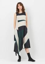 Yohji Yamamoto green 2 way dye dress