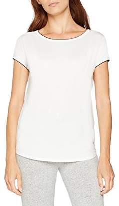 Marc O'Polo Body & Beach Women's Mix W-Shirt Crew-Neck Pyjama Top, (White), (Size of Large)