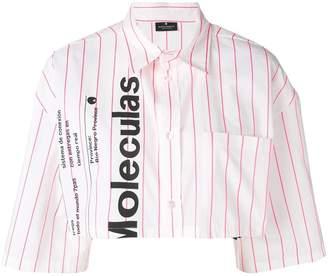 Marcelo Burlon County of Milan warning cropped shirt