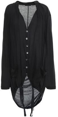 Ann Demeulemeester Oversized Cotton And Silk-blend Cardigan