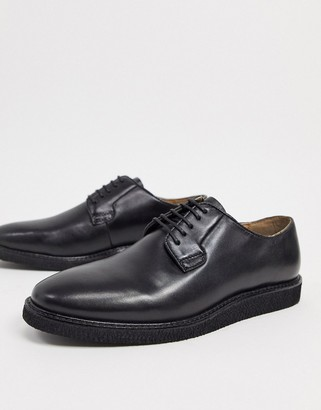 Walk London del oxford lace-up shoes in black leather