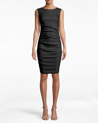 Nicole Miller Stretch Linen Lauren Sheath Dress
