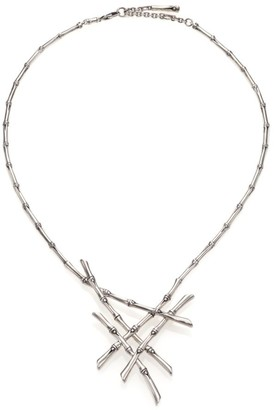 John Hardy Bamboo Sterling Silver Bib Necklace