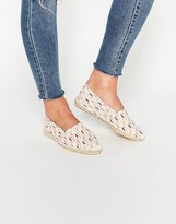 Pieces Haisha Patterned Pearl Espadrillles