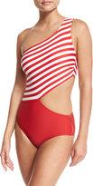 MICHAEL Michael Kors One-Shoulder Cutout One-Piece Swimsuit