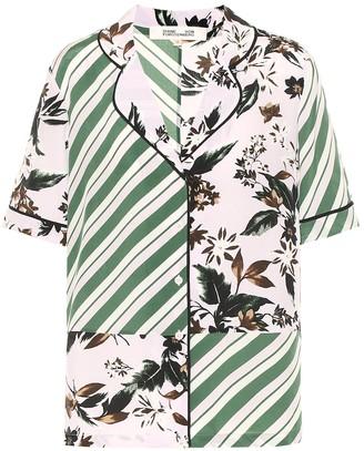 Diane von Furstenberg Iman silk crepe de chine shirt