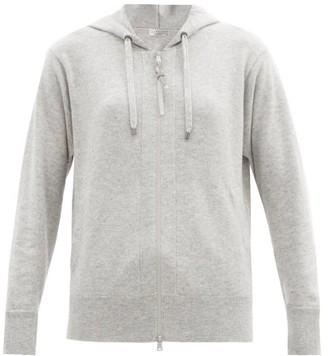 Brunello Cucinelli Hooded Zip-up Cashmere Sweatshirt - Light Grey