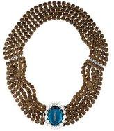 Miu Miu Crystal Embellished Multistrand Necklace