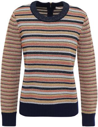 Tory Burch Metallic Striped Knitted Sweater